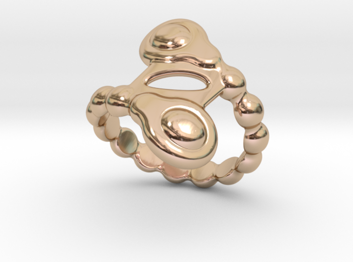 Spiral Bubbles Ring 16 - Italian Size 16 3d printed