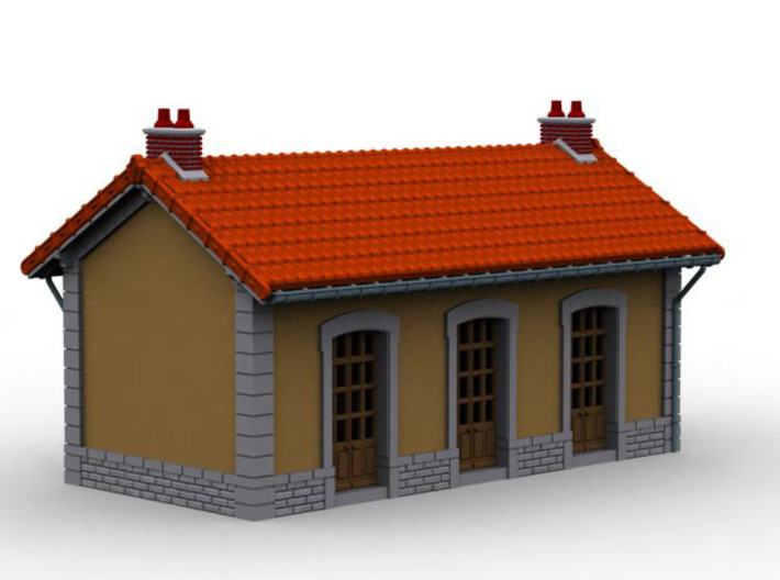 NGH22 Small train station 3d printed
