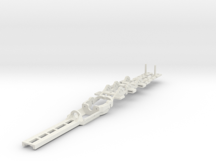 Original SL1 - Snap-In Rear Axle: HO Slot Car Chas 3d printed New SL1 Chassis (Snap-in Rear Axle)