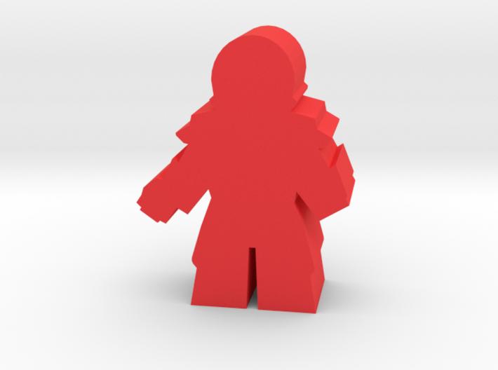 Game Piece, Reptoid Commander 3d printed