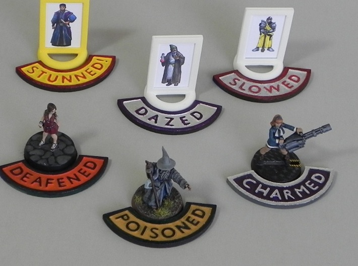 Condition Markers Set 3d printed