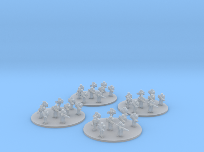 Sci-Fi Infantry Platoon (based) 6mm 3d printed