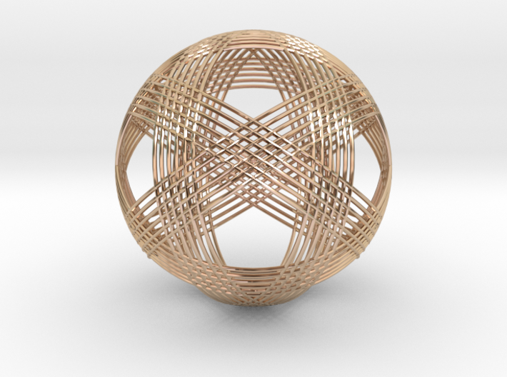 Woven Sphere 3d printed