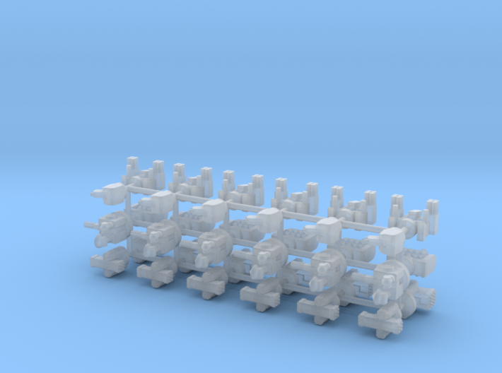 1/600 Russian & PLAN Naval Weapons Pack 3d printed