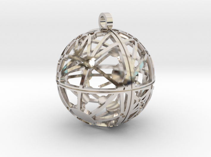 Craters of Ceres Pendant 3d printed