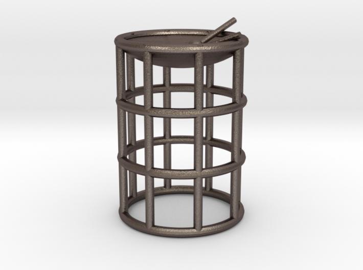 Tenor Bass wireframe steelpan pendant/keyring 3d printed