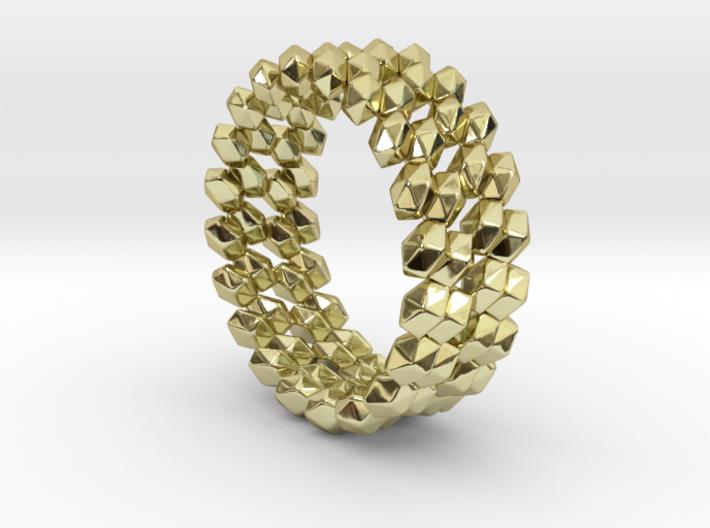 Lost Gemstones Ring, US size 5.5, d=16mm, twist(al 3d printed