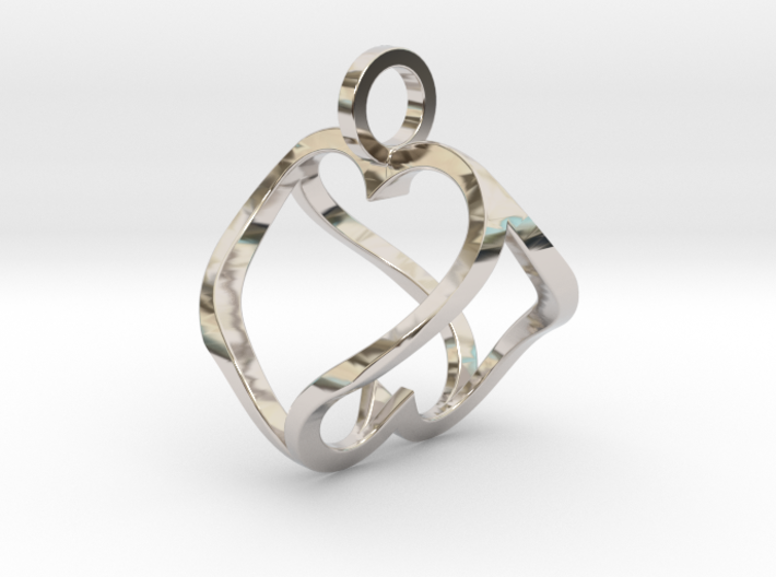 """Heart to Heart"" Pendant 3d printed"