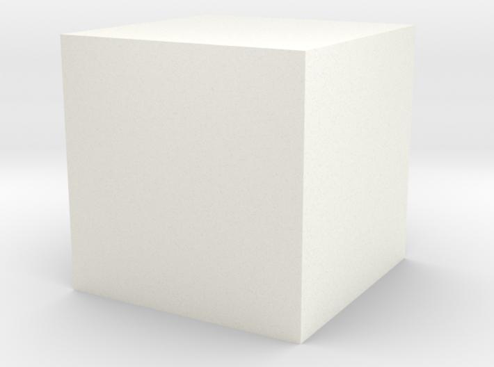 Cube-1cm-centered 3d printed
