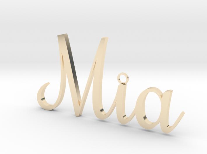 Mia Pendant 3d printed