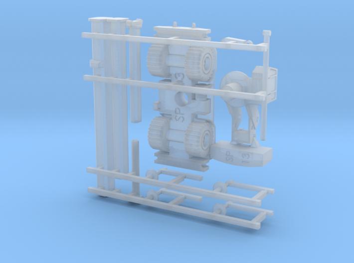 Rough Terrain Crane (Grove RT 800) 1/160 N-Scal 3d printed