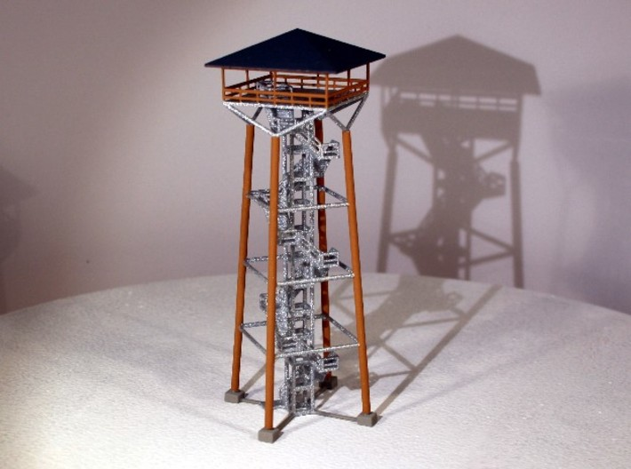 Aussichtsturm groß - 1:220 (Z scale) 3d printed bemalt - painted