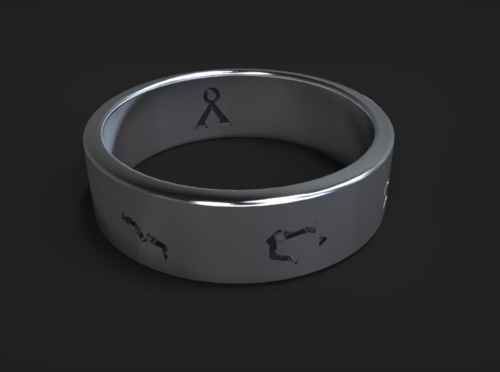 Stargate Ring size 12 (UK size Y) 3d printed