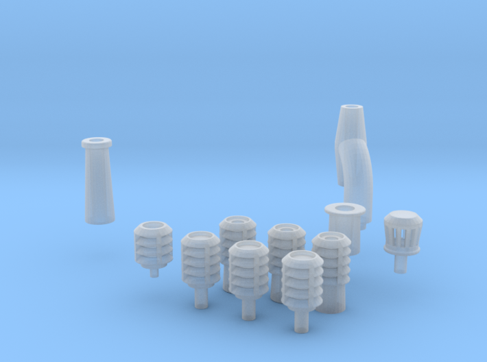 Chimneys 3d printed