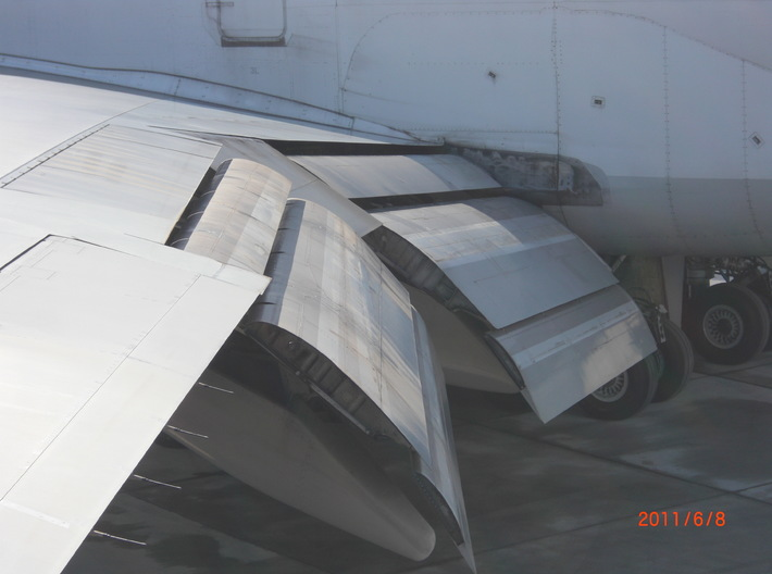 1/144 Boeing 747 Trailing Edge Flaps 3d printed Flaps at full deflection