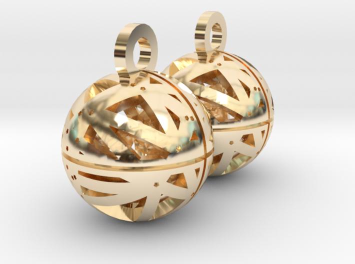 Craters of Ganymede Earrings 3d printed
