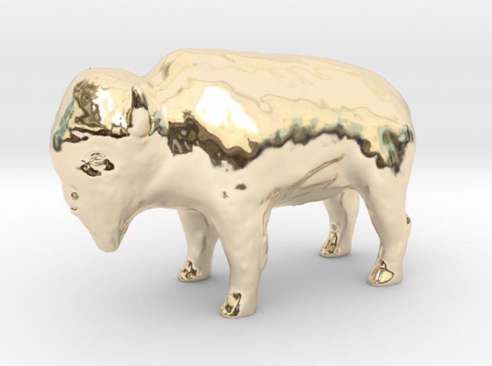Miniature Bison 3d printed