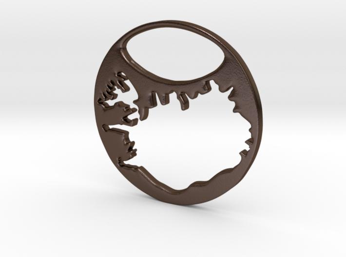 Key ring - Iceland 3d printed