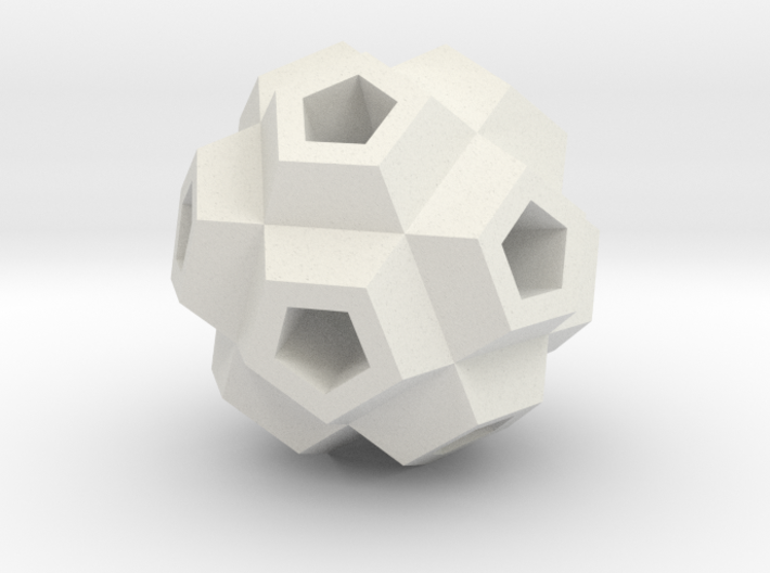 Coral Polyhedron Pendant 3d printed