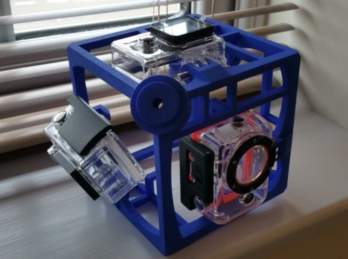 Brahma Waterproof Rig for 360 video with Xiaomi Yi 3d printed