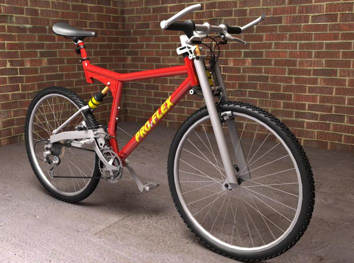 """Proflex Mountain Bike - 10.8"""" L x 6.2"""" H 3d printed This is a rendering of the bike, not the actual product!"""