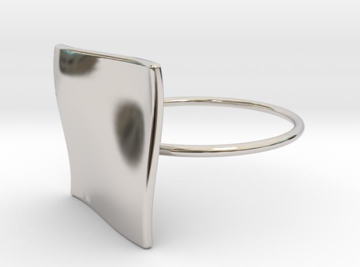 OCEAN Ring Thin Circle 3d printed