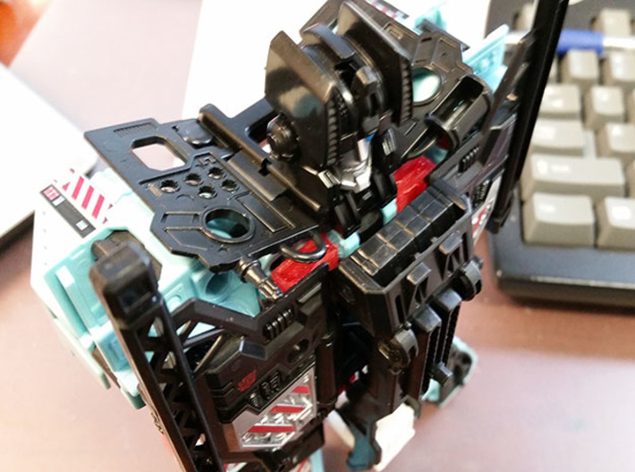 CW Hot Spot 3d printed Torso mode with piece installed