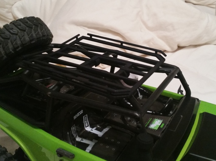 Axial SCX10 Deadbolt/G6 Roof Rack 3d printed Prototype Picture Shown