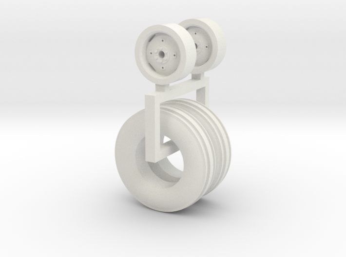 1/64 9.50-20 Wheel And Tire pair 3d printed