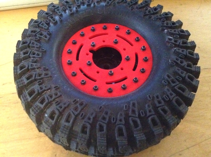 1.9 Military style Beadlock ring for Axial wheels 3d printed
