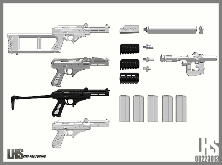 1/6 scale Russian VSK-94 9A91 All Variants set 3d printed
