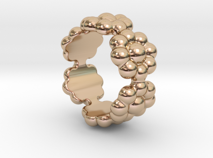 New Flower Ring 27 - Italian Size 27 3d printed