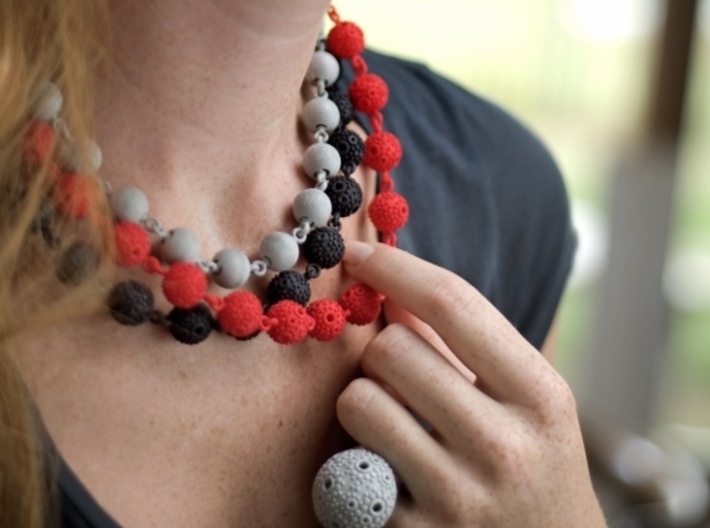 Textured Ball Necklace - 46cm 3d printed