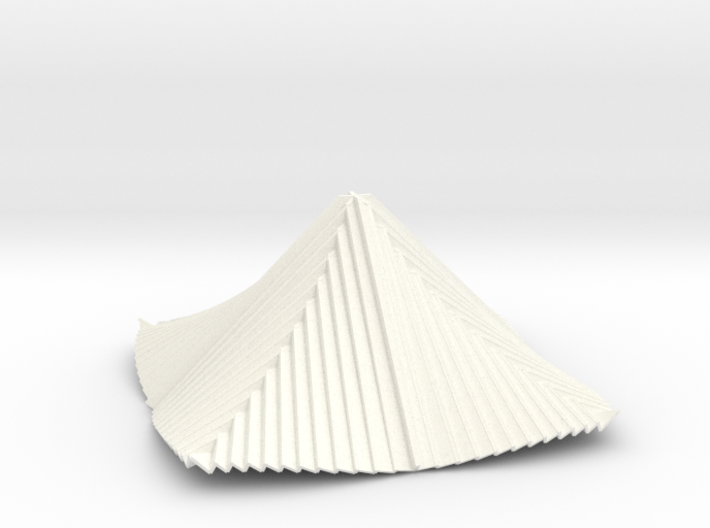 Curved Pyramid 3D V1 3d printed