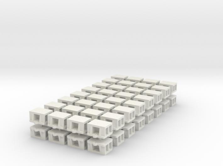 O scale: WSF Bridge Shoe 64ea.stl 3d printed