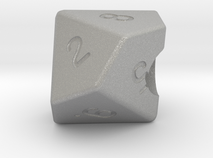 """Geek Beads"" 10 sided die 3d printed"
