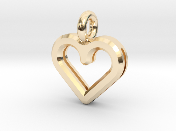 Resonant Heart Amulet - Small 3d printed
