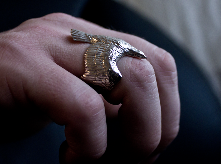 The Eagle Ring 3d printed