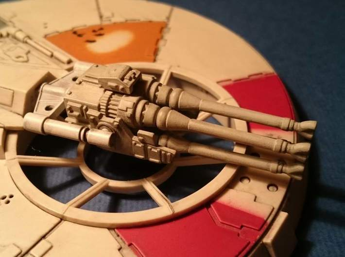 YT1300 DEAGO LASER CANNON 3d printed DeAgo Falcon 3D printed yoke and lasers.