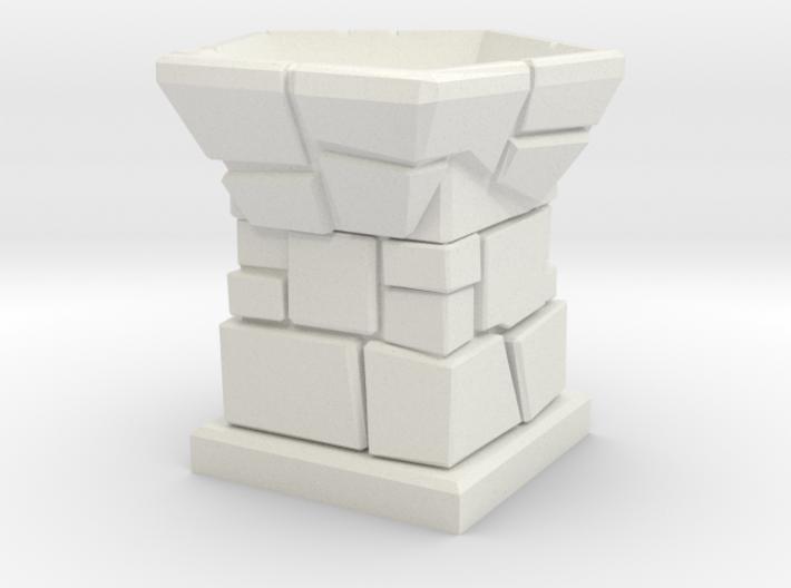 D12 Die Holder (Stone Tower) 3d printed