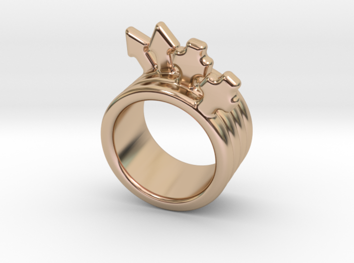 Love Forever Ring 15 - Italian Size 15 3d printed
