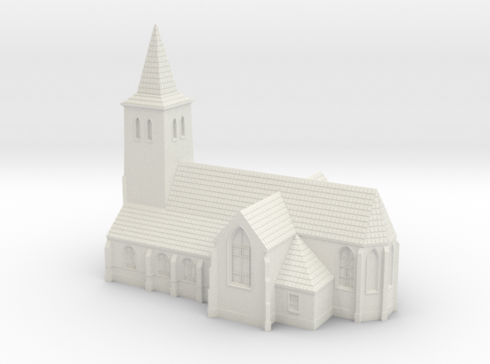 1:285-Church 3d printed