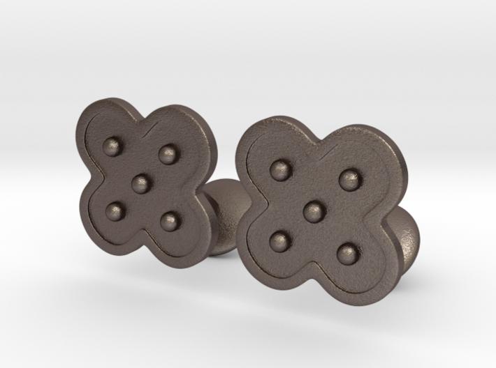 Flower Cufflinks 3d printed