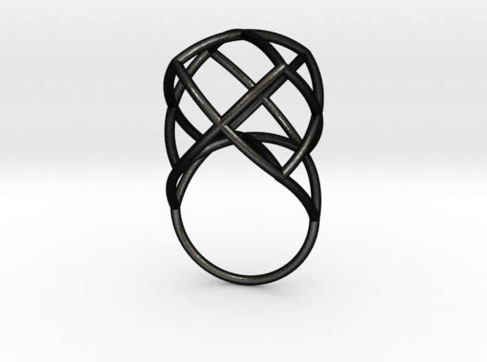 TETRAHEDRON STAR, Ring Nº1 3d printed
