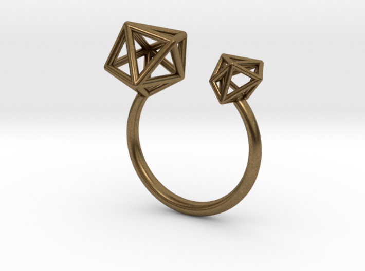 Double Tangle Ring 3d printed