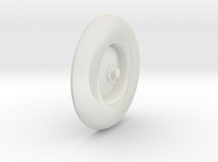 B-LRV wheel : outer mesh & hub 3d printed