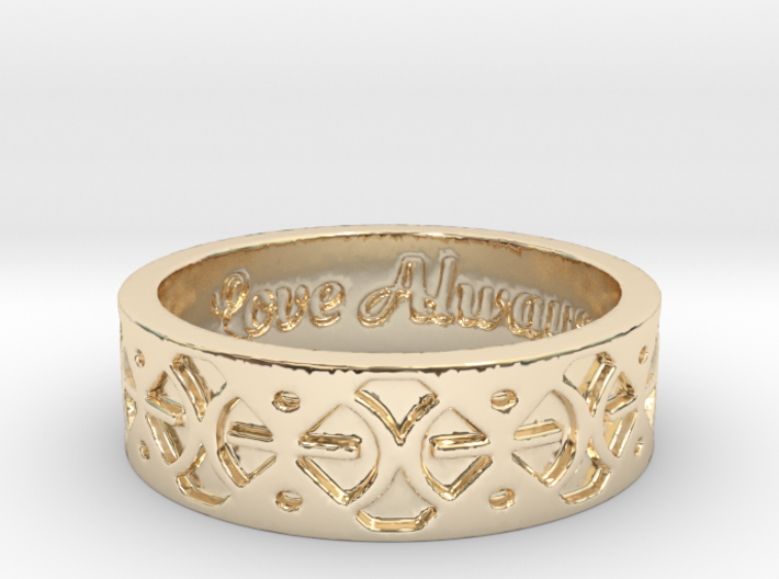 Mmere Dane Wedding Ring Size 7 3d printed