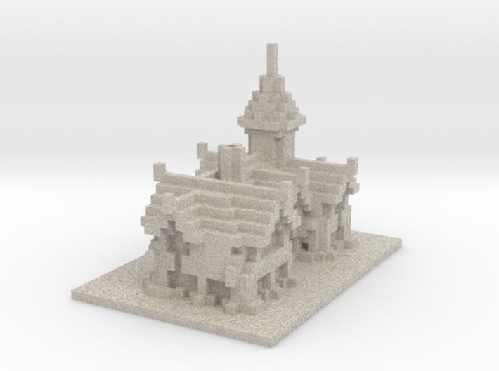 Minecraft Medieval House 3d printed