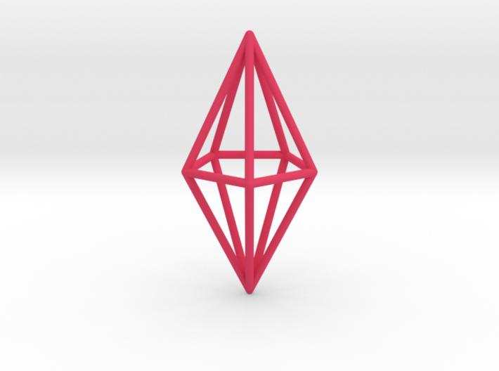 Pendant 'Crystal' 3d printed