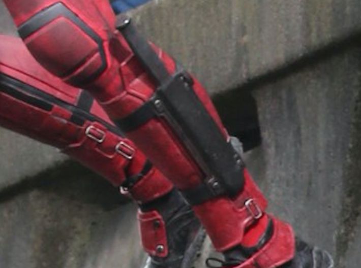 Deadpool Leg Sheath v2 3d printed Sheath only. Knife and straps not included.